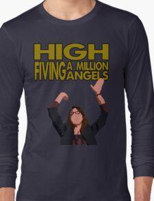 Liz Lemon - High fiving a million angels Long Sleeve T-Shirt