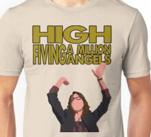 Liz Lemon - High fiving a million angels Unisex T-Shirt