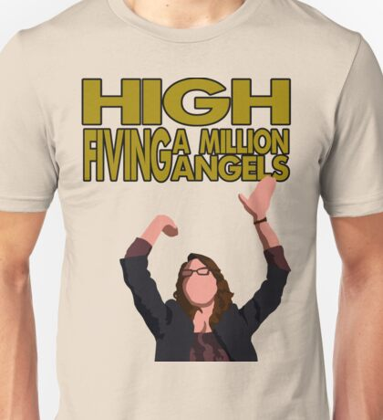 Liz Lemon - High fiving a million angels Unisex T-Shirt