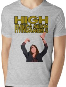 Liz Lemon - High fiving a million angels Mens V-Neck T-Shirt