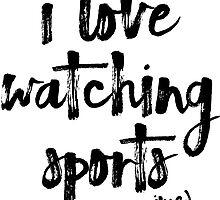 i love watching sports anime by teeworthy