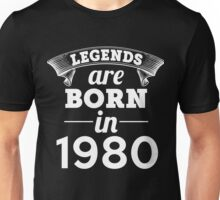 legends are born in 1980 shirt hoodie Unisex T-Shirt