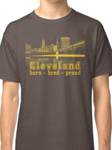 Heritage Park reflecting in the Cuyahoga river. Classic T-Shirt