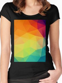 colorful crystal pattern Women's Fitted Scoop T-Shirt