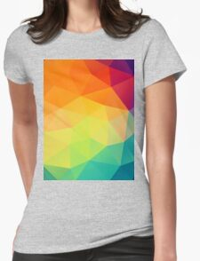 colorful crystal pattern Womens Fitted T-Shirt