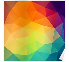 colorful crystal pattern Poster