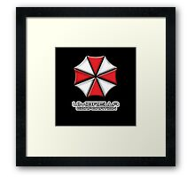 Umbrella Corporation Red And White Framed Print
