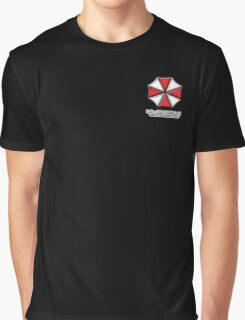 Umbrella Corporation Red And White Graphic T-Shirt
