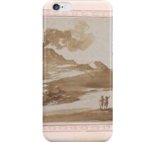 Giovanni Francesco Barbieri, called Il Guercino,  Landscape with a Volcano iPhone Case/Skin