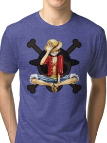 Luffy the Pirates - One Piece Tri-blend T-Shirt