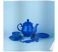 Blue tea party madness still life Poster
