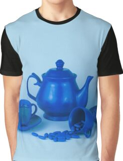 Blue tea party madness still life Graphic T-Shirt
