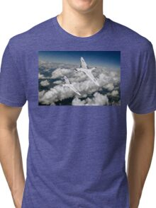 Two Avro Vulcan B1 bombers above clouds Tri-blend T-Shirt