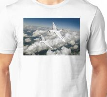 Two Avro Vulcan B1 bombers above clouds Unisex T-Shirt