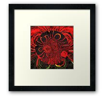 Blood Moon. Abstract  Framed Print