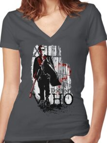 WHO Women's Fitted V-Neck T-Shirt