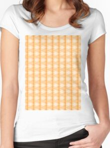 abstract triangle pattern Women's Fitted Scoop T-Shirt