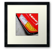red ferrari 400i headlamp Framed Print