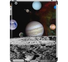 Montage of the planets and Jupiter's moons. iPad Case/Skin