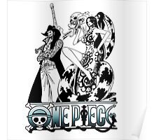 One Piece Characters - dark Poster