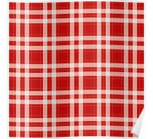 Tartan in red Poster