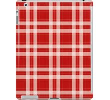 Tartan in red iPad Case/Skin