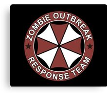 Zombie outbreak response patch Canvas Print