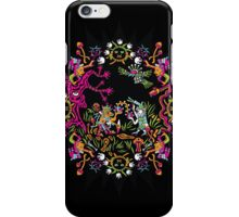 Aztec meeting psychedelic T-shirt iPhone Case/Skin