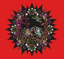 Aztec meeting psychedelic T-shirt Kids Tee