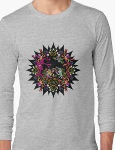 Aztec meeting psychedelic T-shirt Long Sleeve T-Shirt