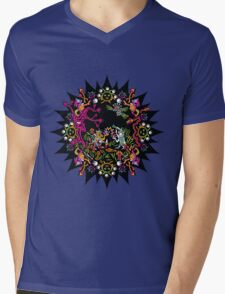 Aztec meeting psychedelic T-shirt Mens V-Neck T-Shirt