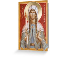 St Genevieve of Paris  Greeting Card