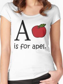 A is for Apple: Funny Alphabet Women's Fitted Scoop T-Shirt