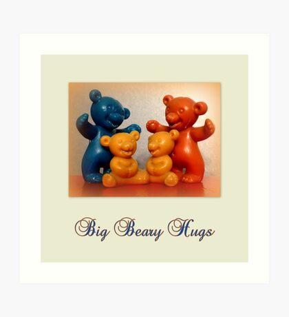 Big Beary Hugs Art Print