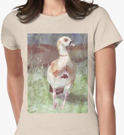 Papa Goose  Womens Fitted T-Shirt