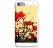 Norfolk poppies iPhone Case/Skin