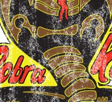 Cobra Kai - Strike First - Strike Hard - No Mercy - Distressed Variant 2 Sticker