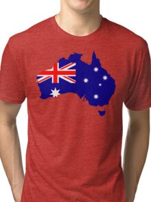 Australia Flag Map Tri-blend T-Shirt