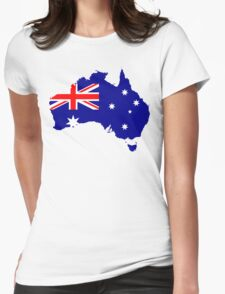 Australia Flag Map Womens Fitted T-Shirt