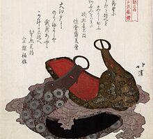 Edo Musashi Saddle Stirrup - Hokkei Totoya - 1818 - woodcut by CrankyOldDude