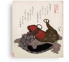 Edo Musashi Saddle Stirrup - Hokkei Totoya - 1818 - woodcut Canvas Print