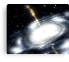 A rare galaxy that is extremely dusty, and produces radio jets Canvas Print