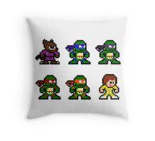8Bit Ninja Turtles Throw Pillow