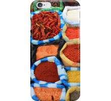 Colorful Spices at the Market iPhone Case/Skin