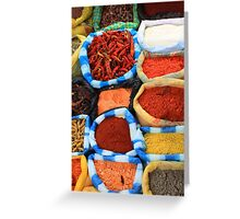 Colorful Spices at the Market Greeting Card