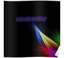 ReneWorks Abstract Oil Paint Poster