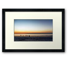 sunset and people Framed Print