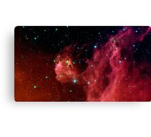Young stars emerge from Orion's head. Canvas Print