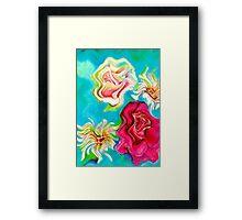 Twirled Flowers Framed Print