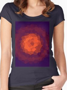 abstract crystal design Women's Fitted Scoop T-Shirt
